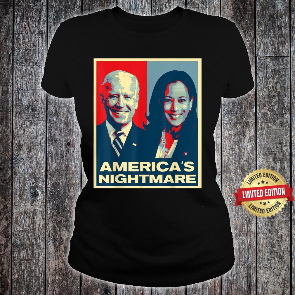 America's Nightmare Impeach Biden Harris Now Anti Joe Biden Shirt ladies tee
