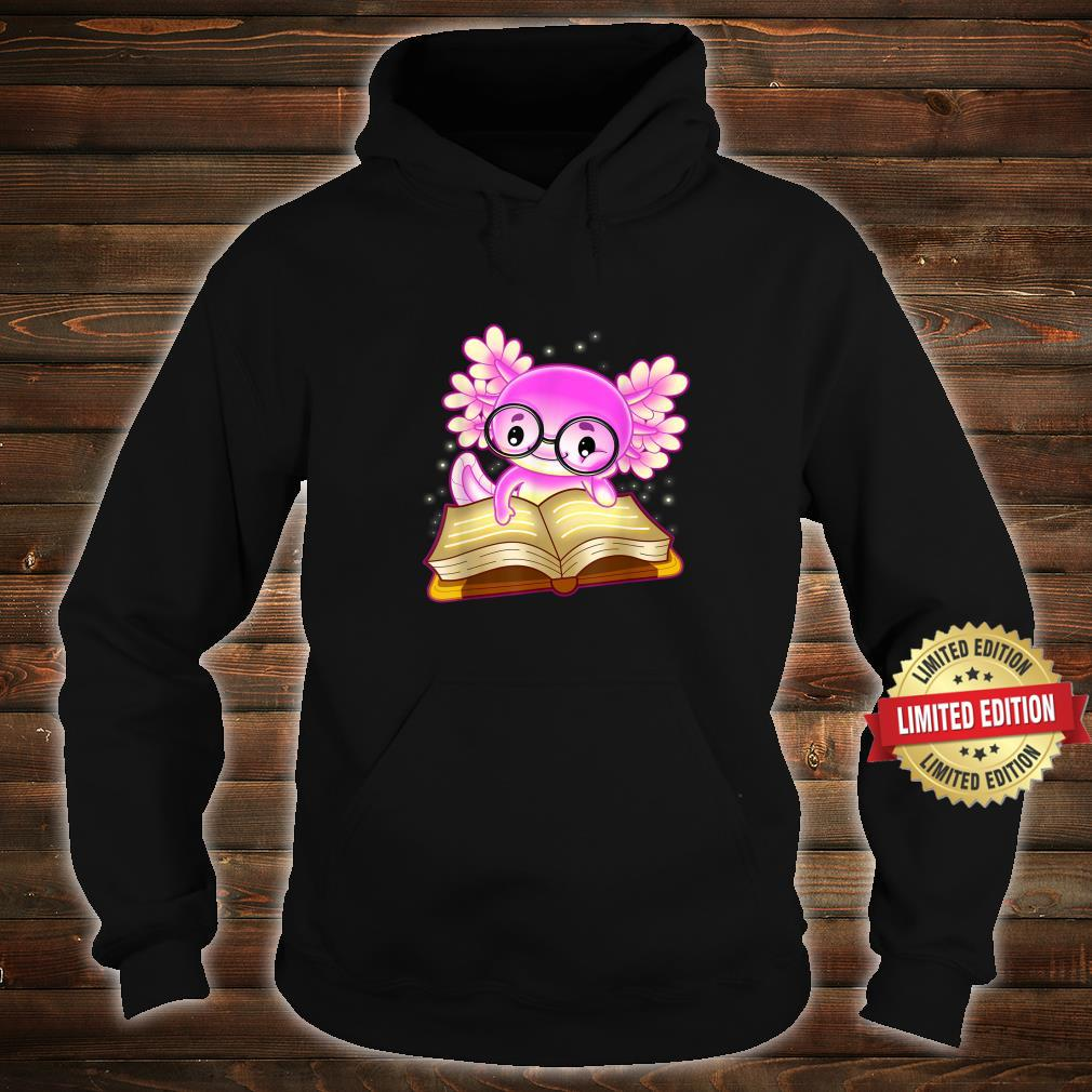 Axolotl Read Book Ambystoma Mexicanum Mexican Walking Fish Shirt hoodie