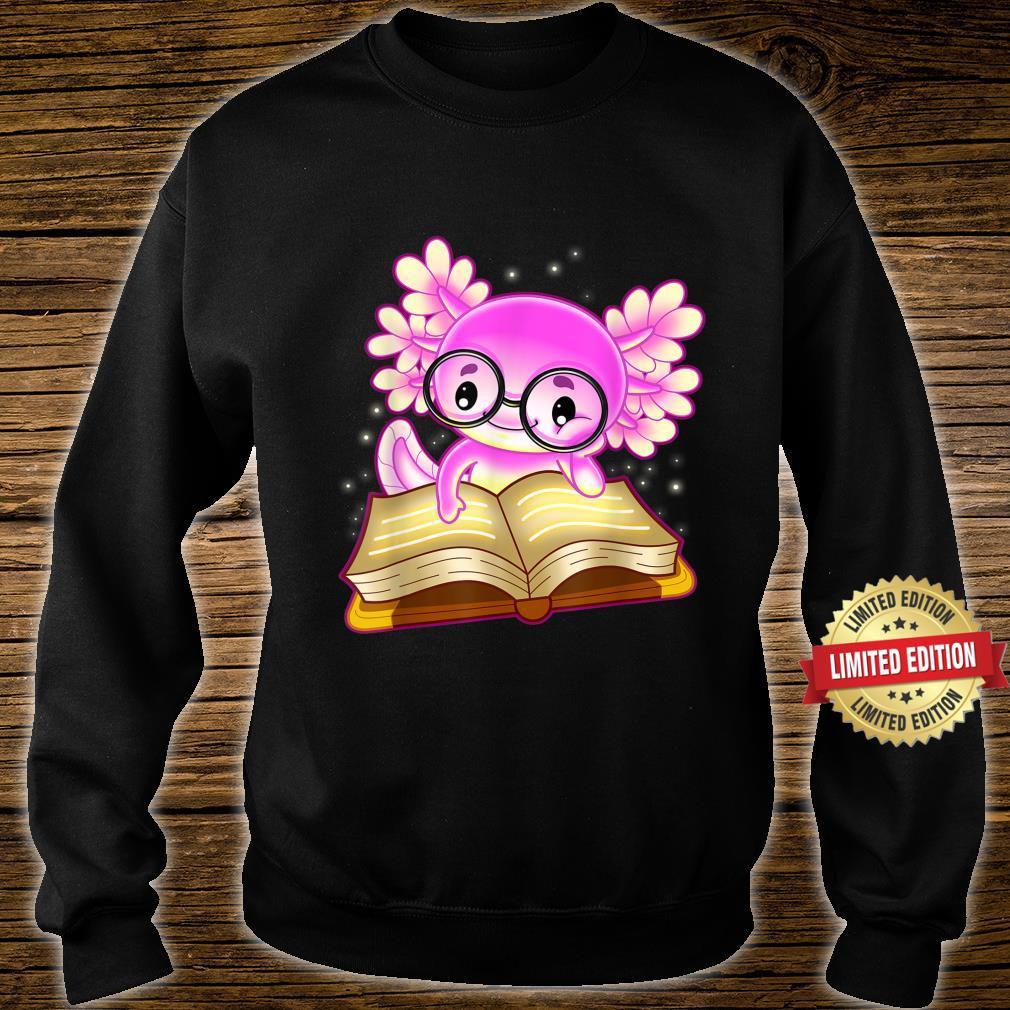 Axolotl Read Book Ambystoma Mexicanum Mexican Walking Fish Shirt sweater