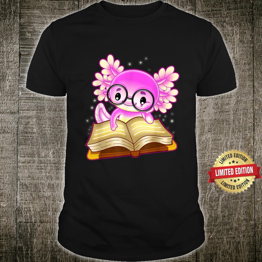 Axolotl Read Book Ambystoma Mexicanum Mexican Walking Fish Shirt