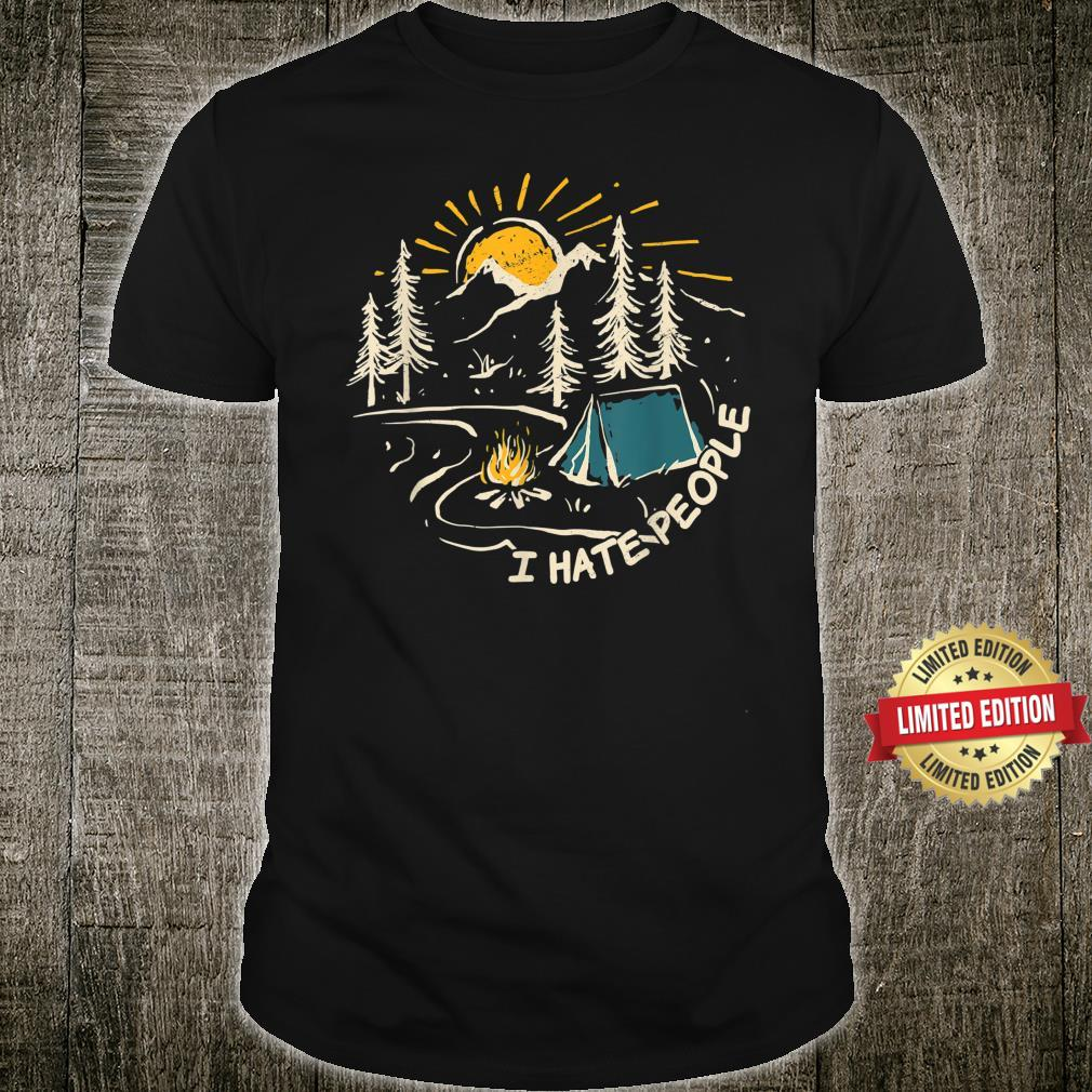 CAMPING I Hate People Vintage Hiking Outdoor Retro Camper Shirt