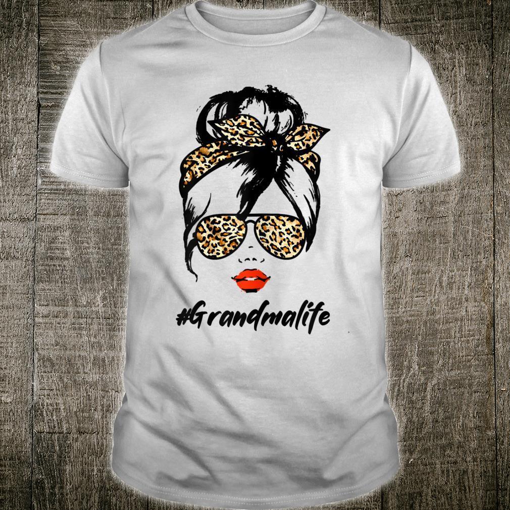 #GrandmaLife With Leopard Pattern Shades Shirt