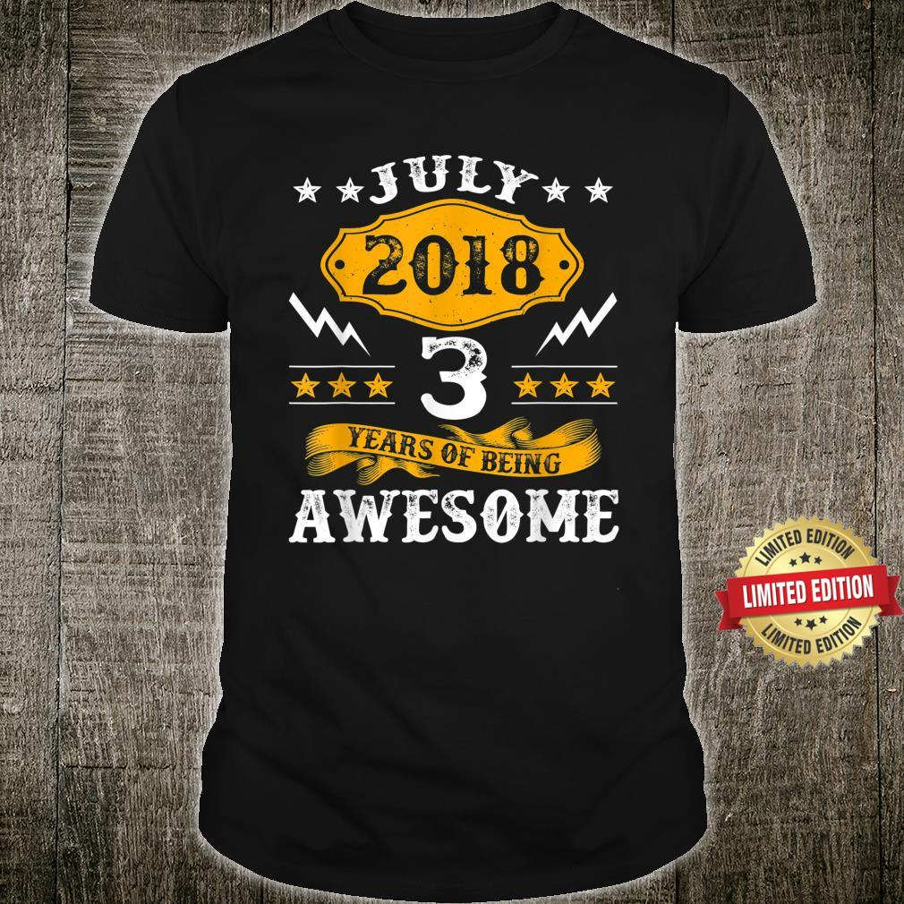 July 2018 Limited Edition 3rd Birthday Shirt