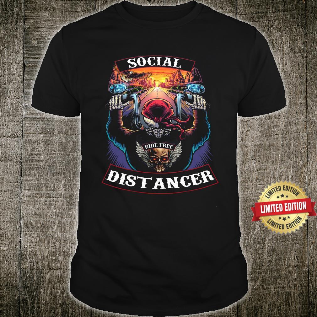 MOTORCYCLE Social Ride Free Distancer Shirt