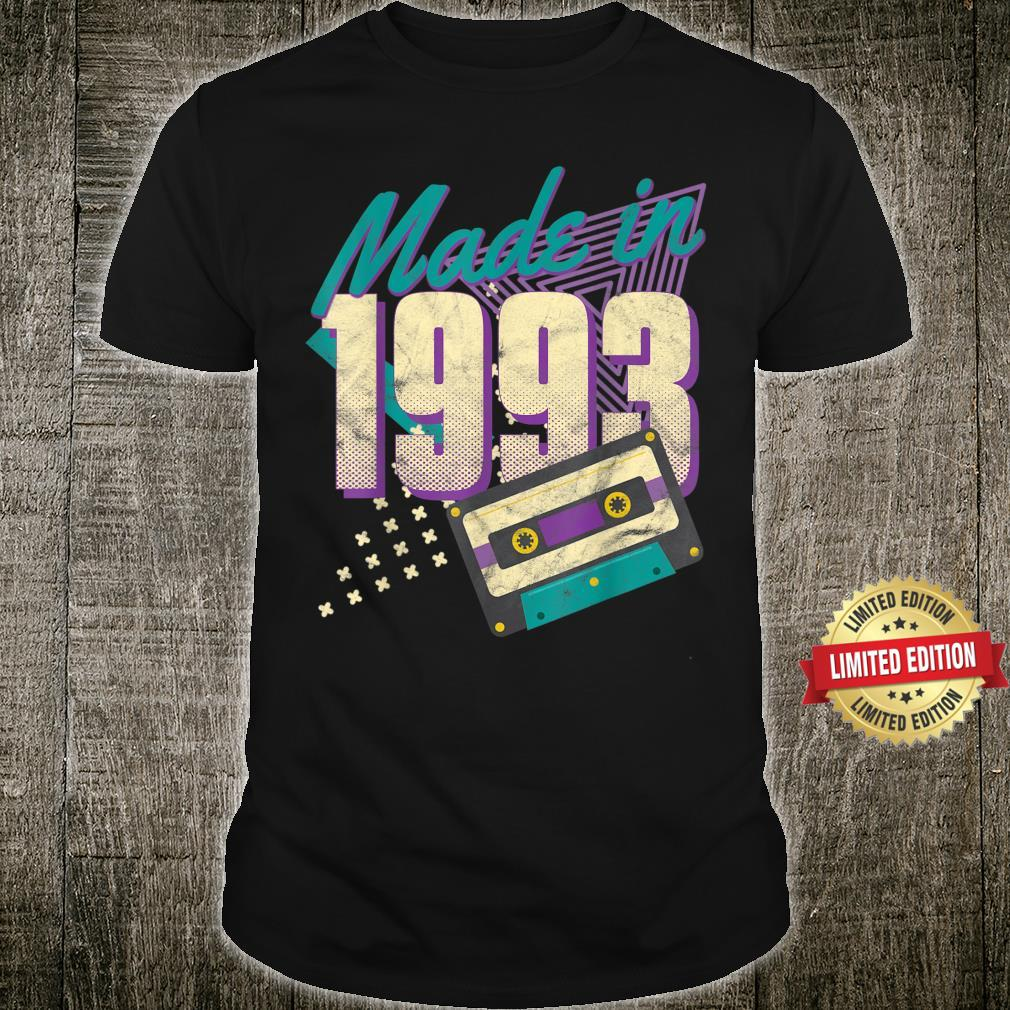 Made in 1993 Vintage Cassette 28th Birthday 28 Year Old Shirt