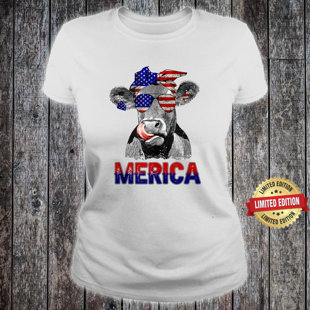 #Merica Shirt, Merica cow Shirt ladies tee