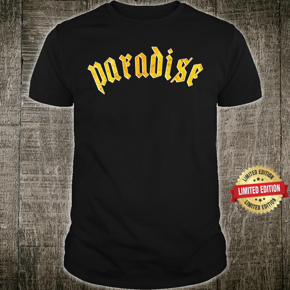 Paradise Golden Autumn Yellow Custom Logo Fall Art Shirt