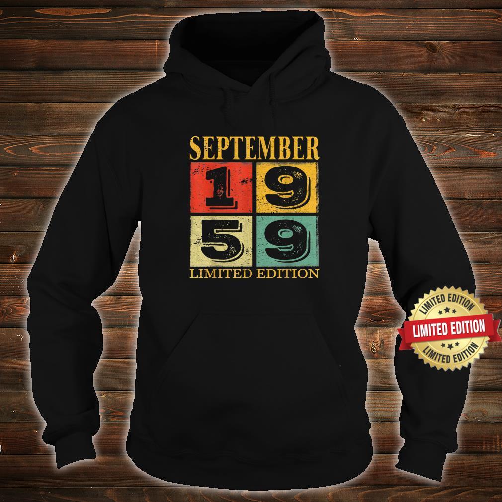 September 1959 62nd Legendary Birthday Shirt hoodie