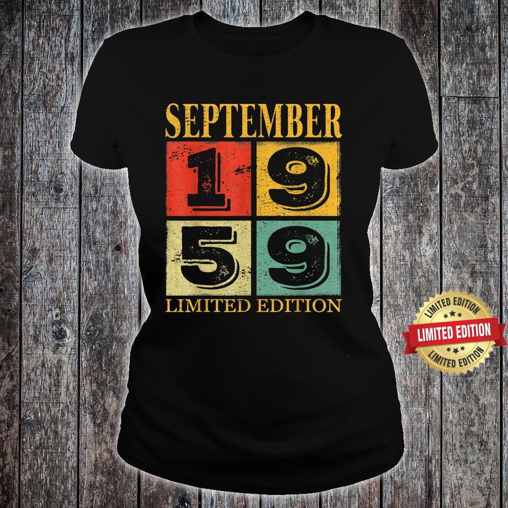 September 1959 62nd Legendary Birthday Shirt ladies tee