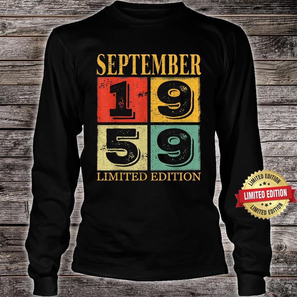September 1959 62nd Legendary Birthday Shirt long sleeved