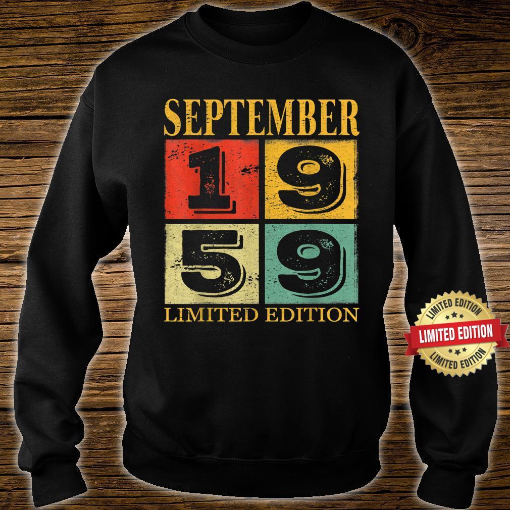 September 1959 62nd Legendary Birthday Shirt sweater