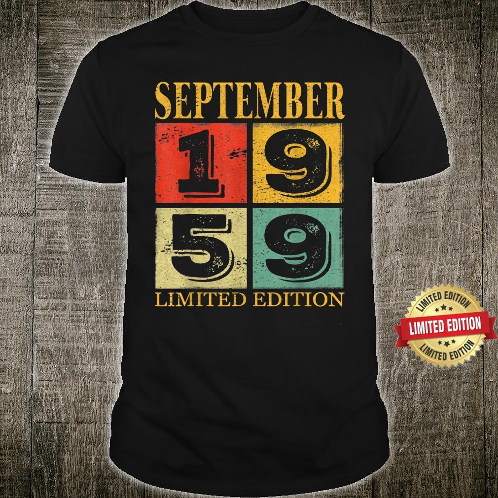 September 1959 62nd Legendary Birthday Shirt
