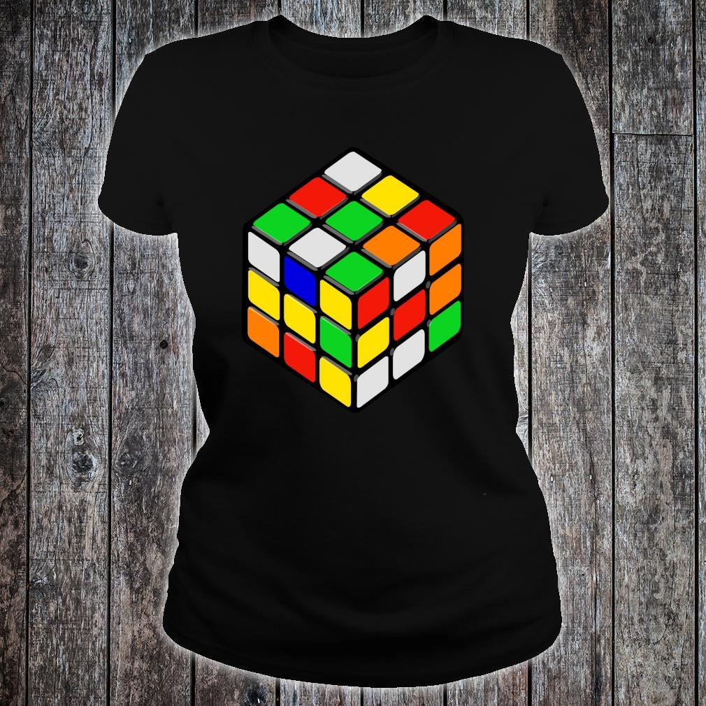 Speed Cubing Puzzle Cube Shirt ladies tee