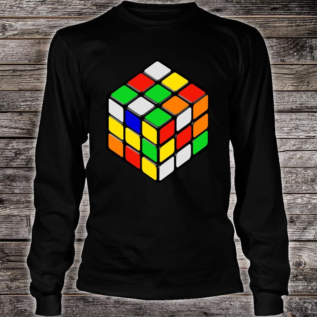 Speed Cubing Puzzle Cube Shirt long sleeved