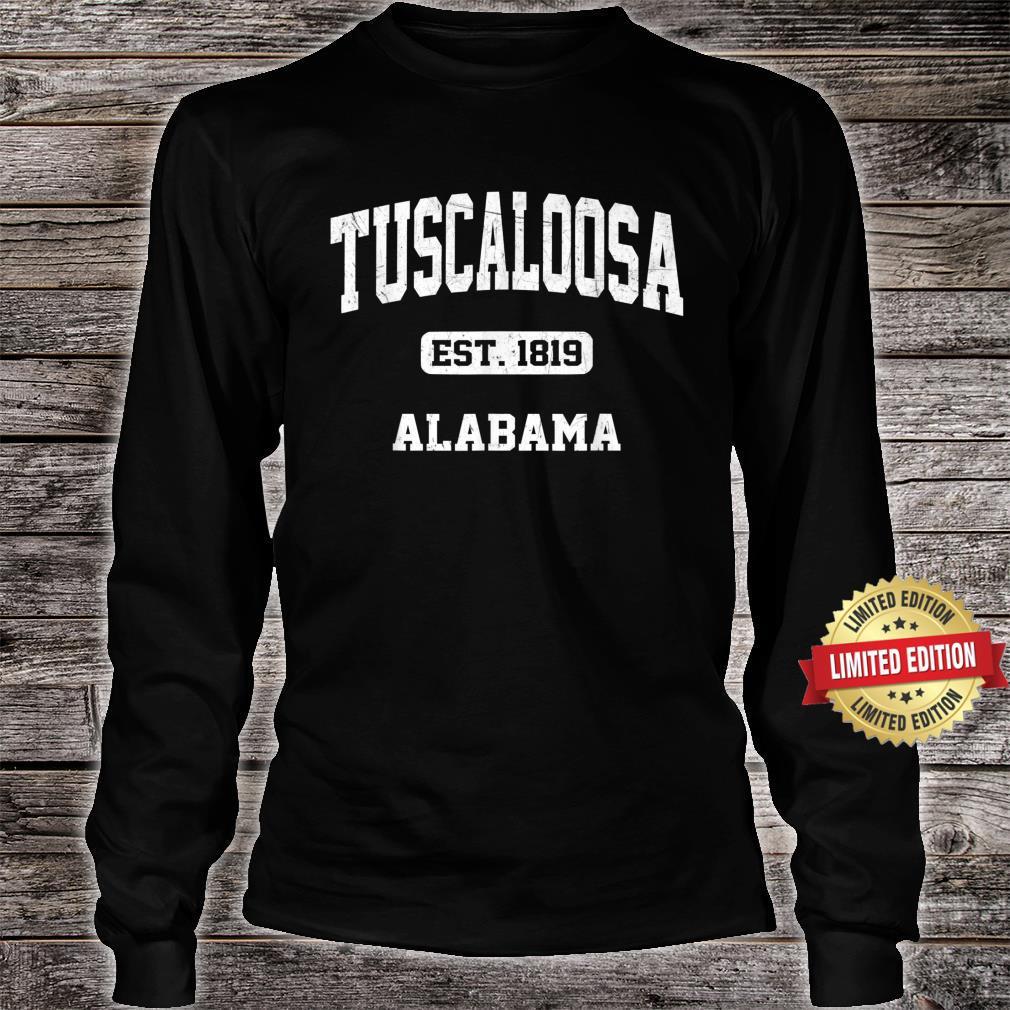 Tuscaloosa Alabama AL Vintage State Athletic Style Shirt long sleeved