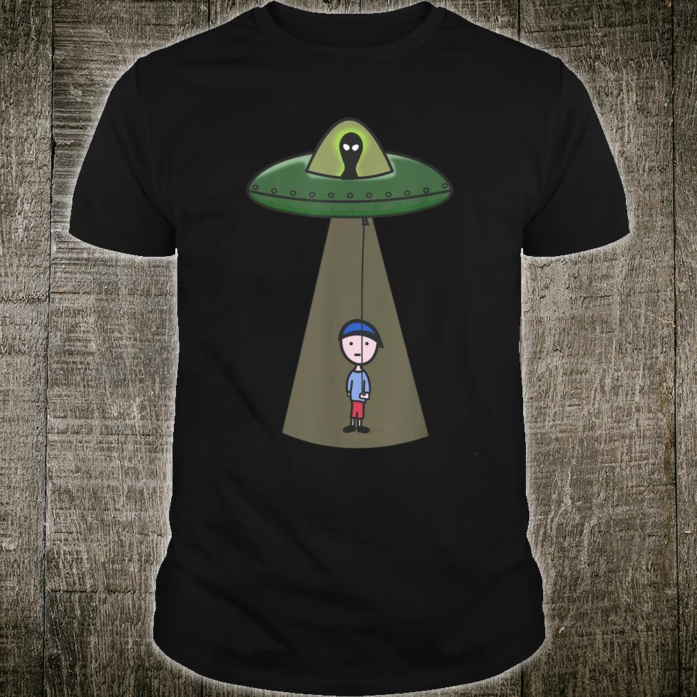 UFO Balloon Boy Are We Alone or Not Shirt