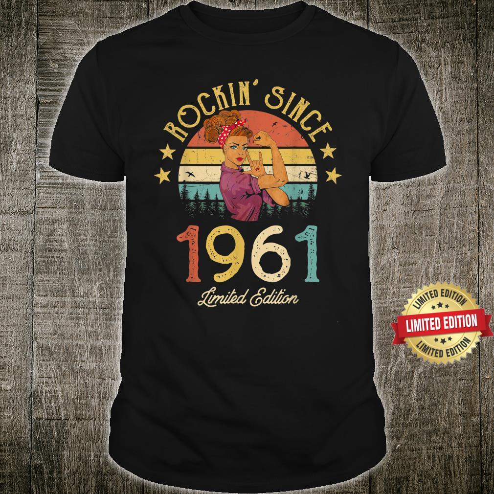 Vintage 1961 Rockin Since 60th Birthday 60 Years Old Shirt