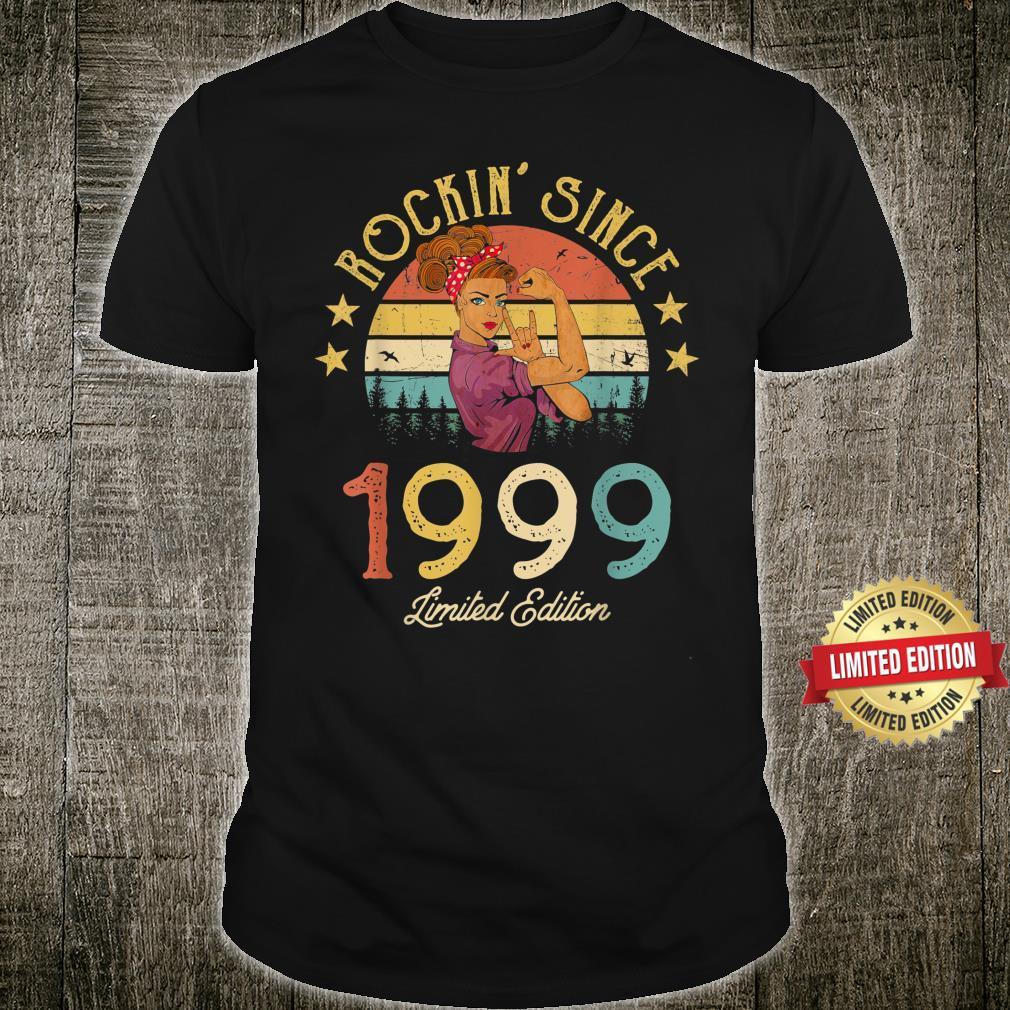 Vintage 1999 Rockin Since 22nd Birthday 22 Years Old Shirt