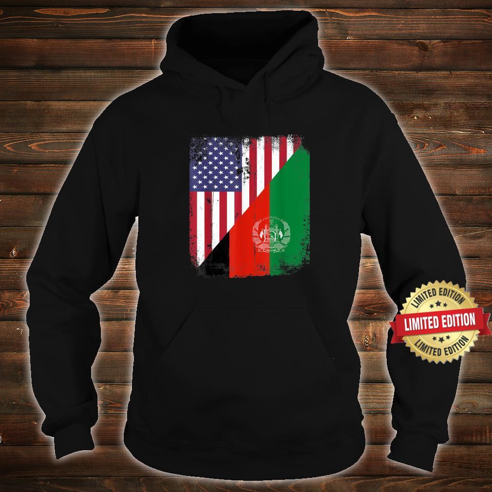 Vintage Afghanistan Afghan Flag United state Flag Support Shirt hoodie