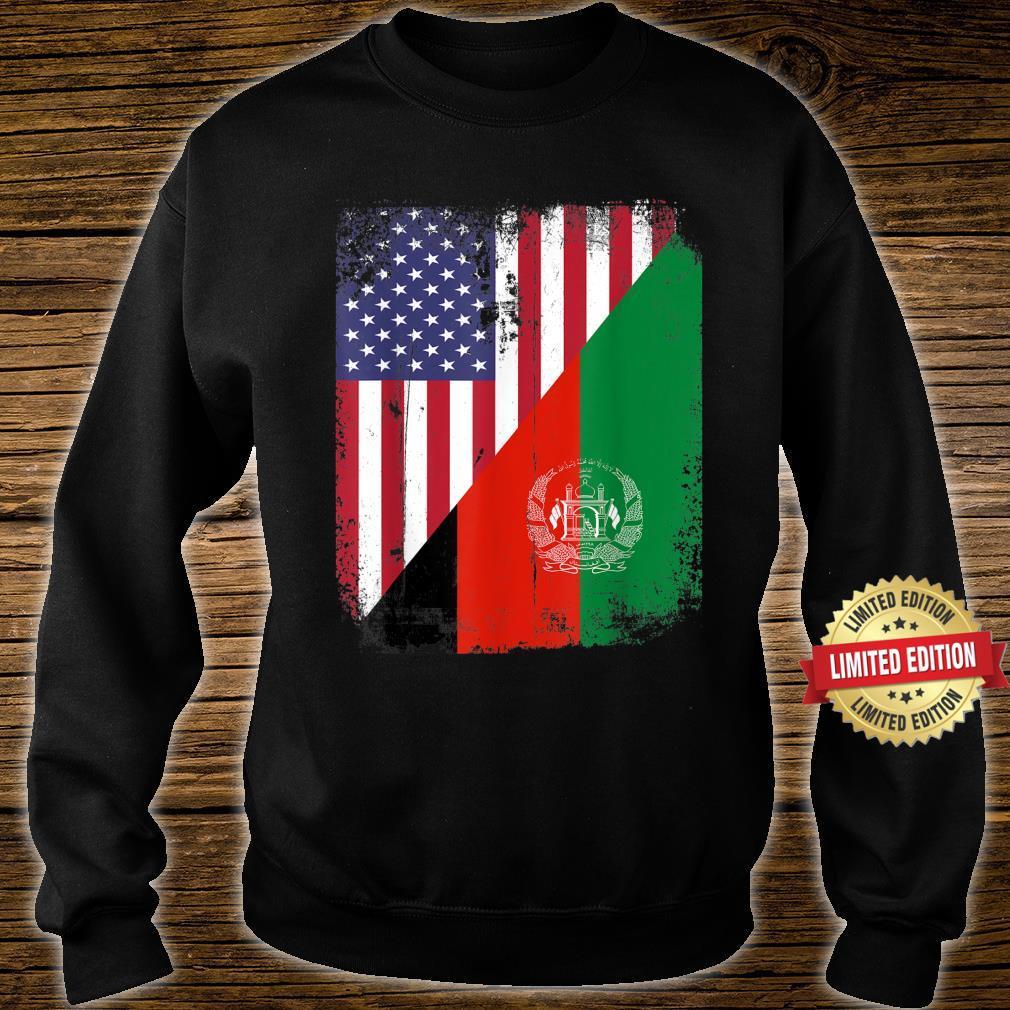 Vintage Afghanistan Afghan Flag United state Flag Support Shirt sweater