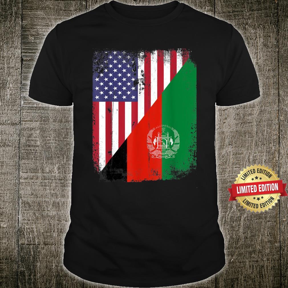 Vintage Afghanistan Afghan Flag United state Flag Support Shirt
