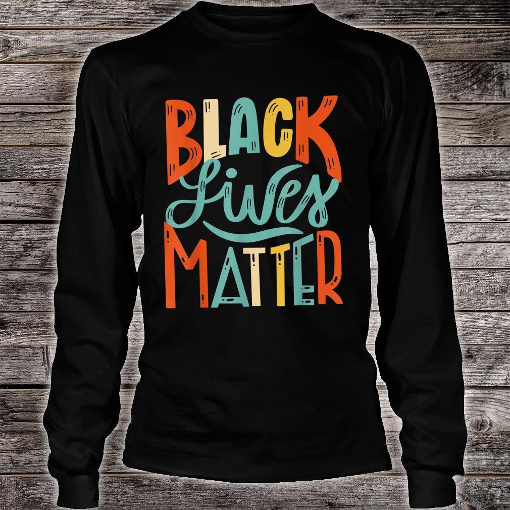 Vintage BLM Shirt Black Lives Matter Retro 70s 80s Style BLM Shirt long sleeved