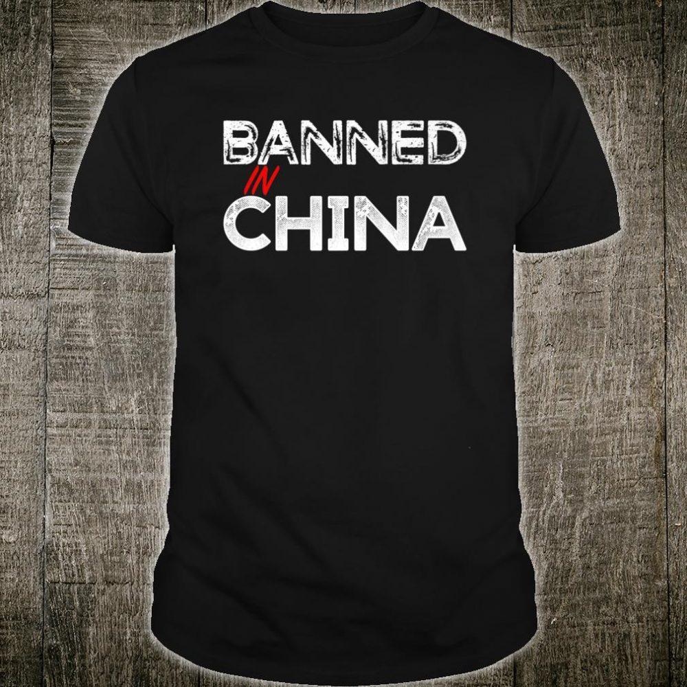 Banned In China Hong Kong Support Shirt