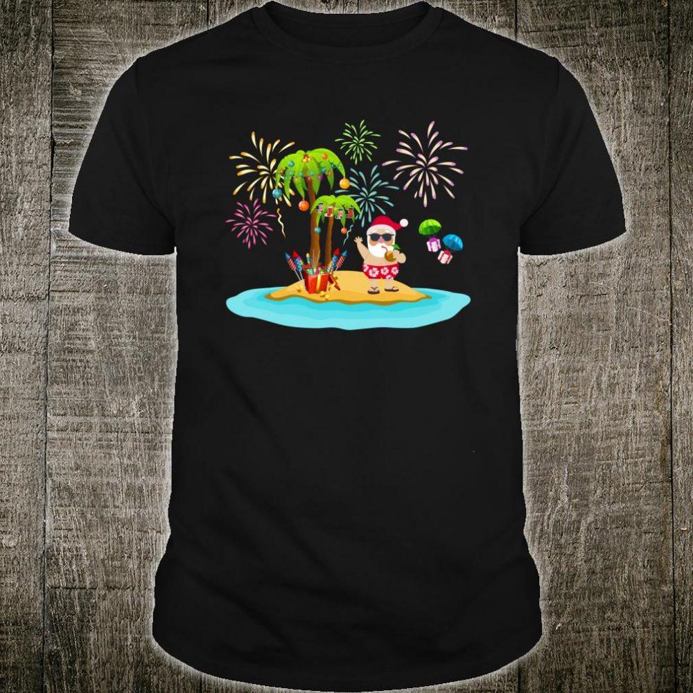 Decorated Christmas Palm Tree Tropical Xmas Coconut Lights Shirt