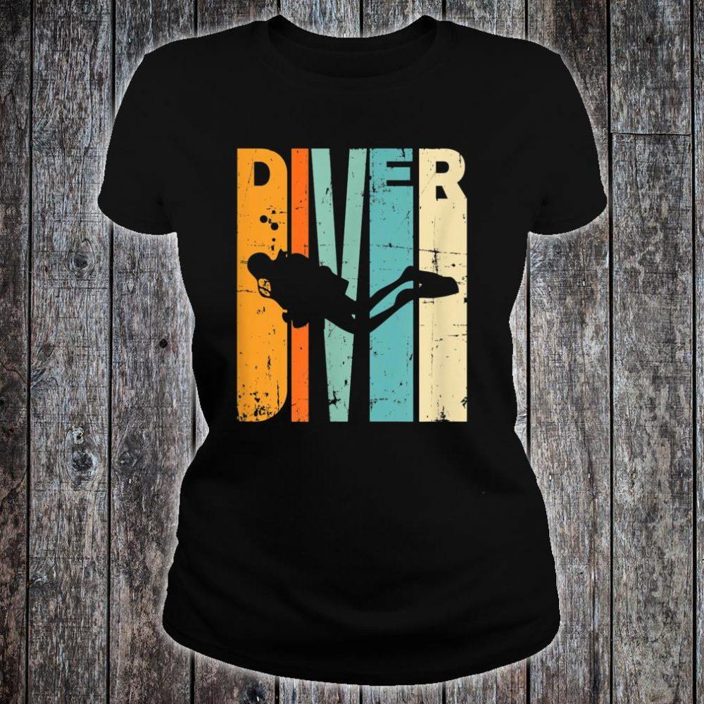 Diving Vintage Diving Instrucor Scuba Diving Shirt ladies tee