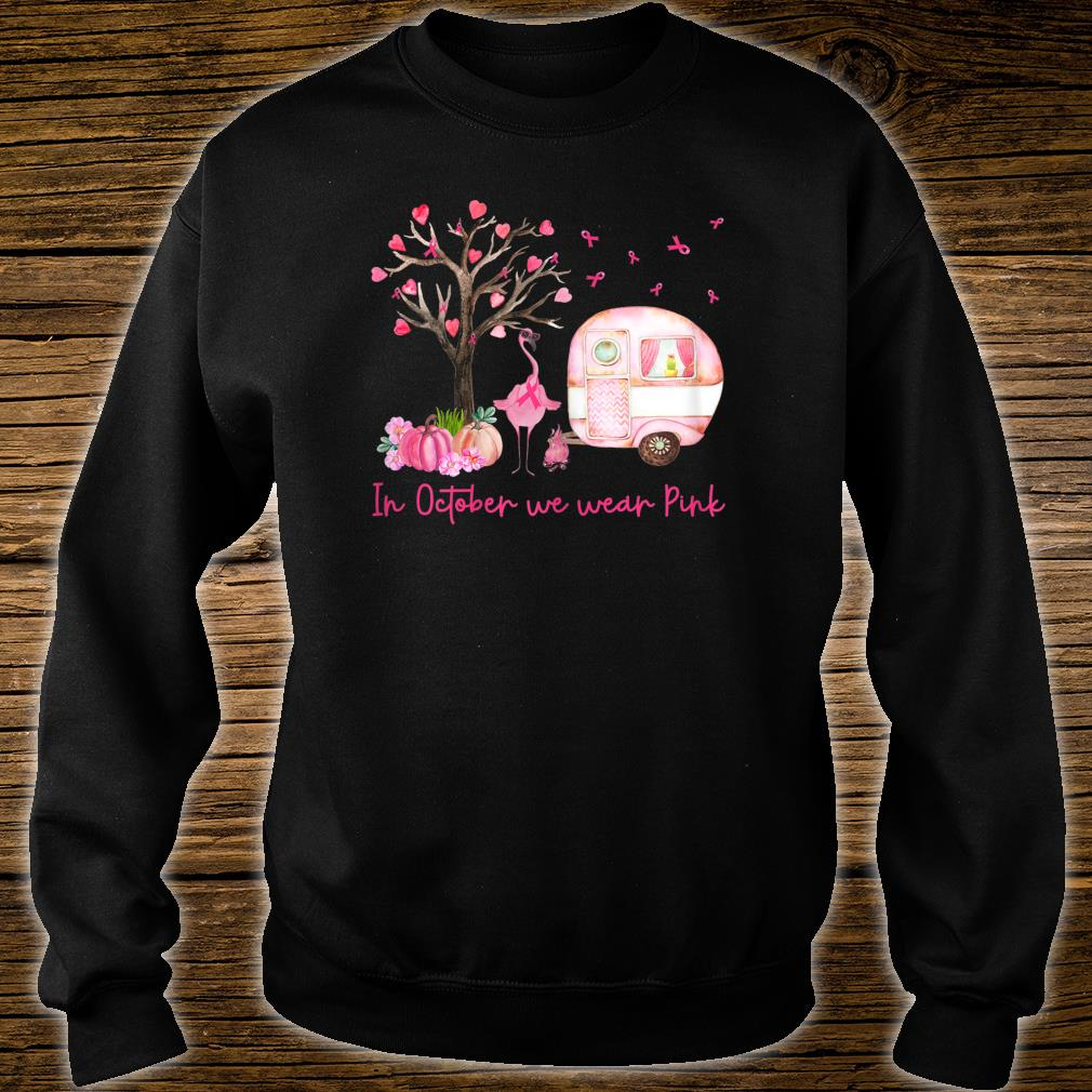 Flamingo In October We Wear Pink Breast Cancer Awareness Shirt sweater
