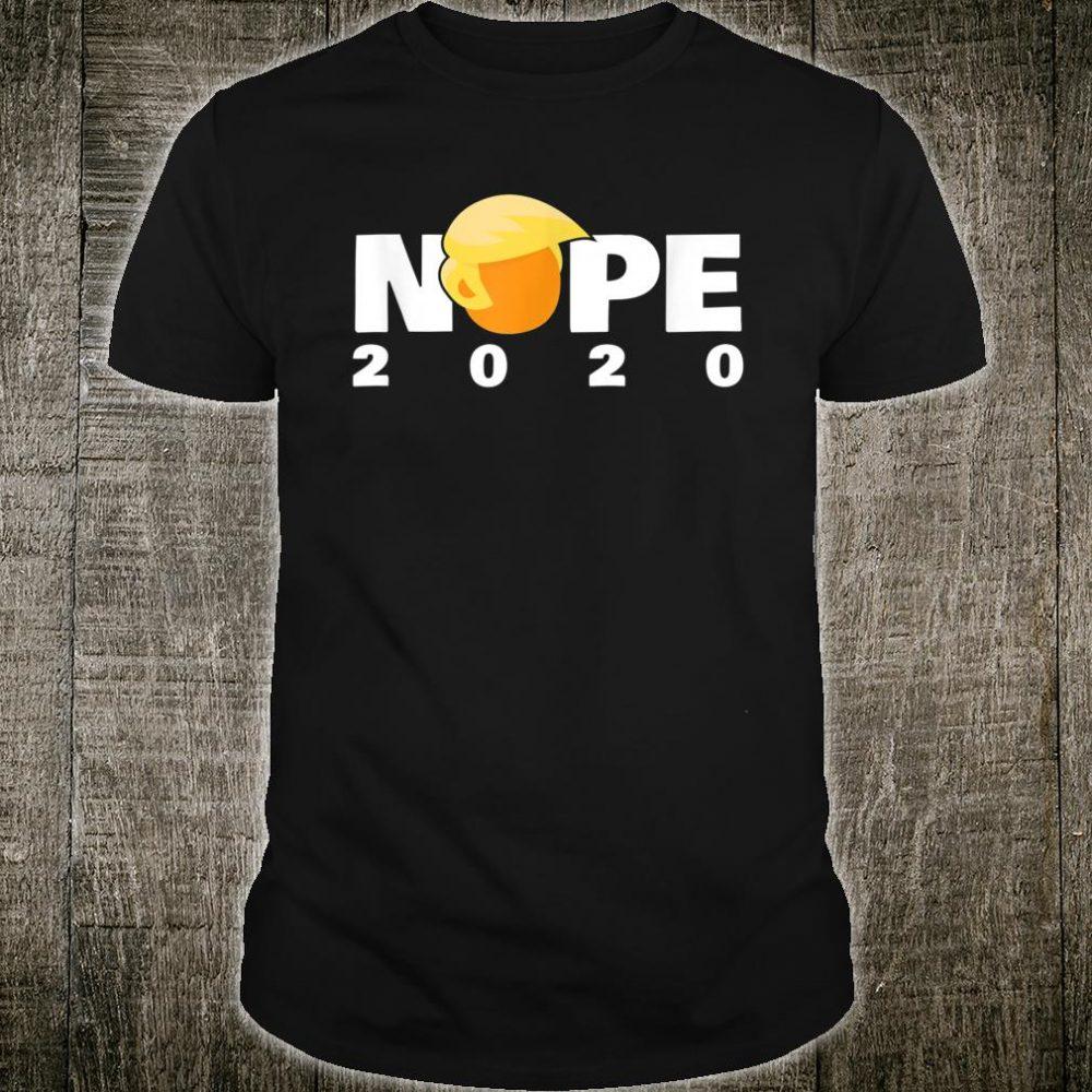 Funny NOPE 2020 AntiTrump Cartoon Design Shirt