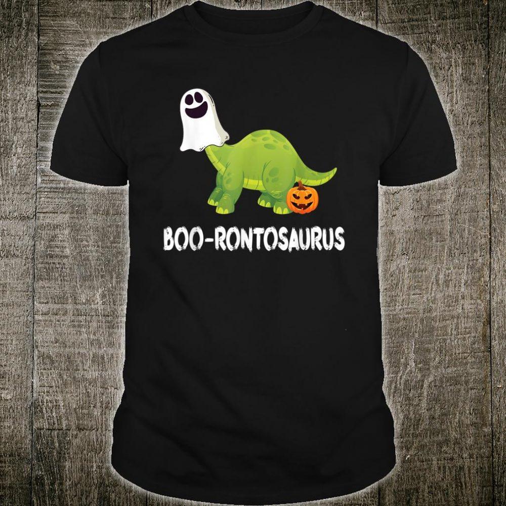 Ghost Dinosaur Brontosaurus Boo Halloween Shirt