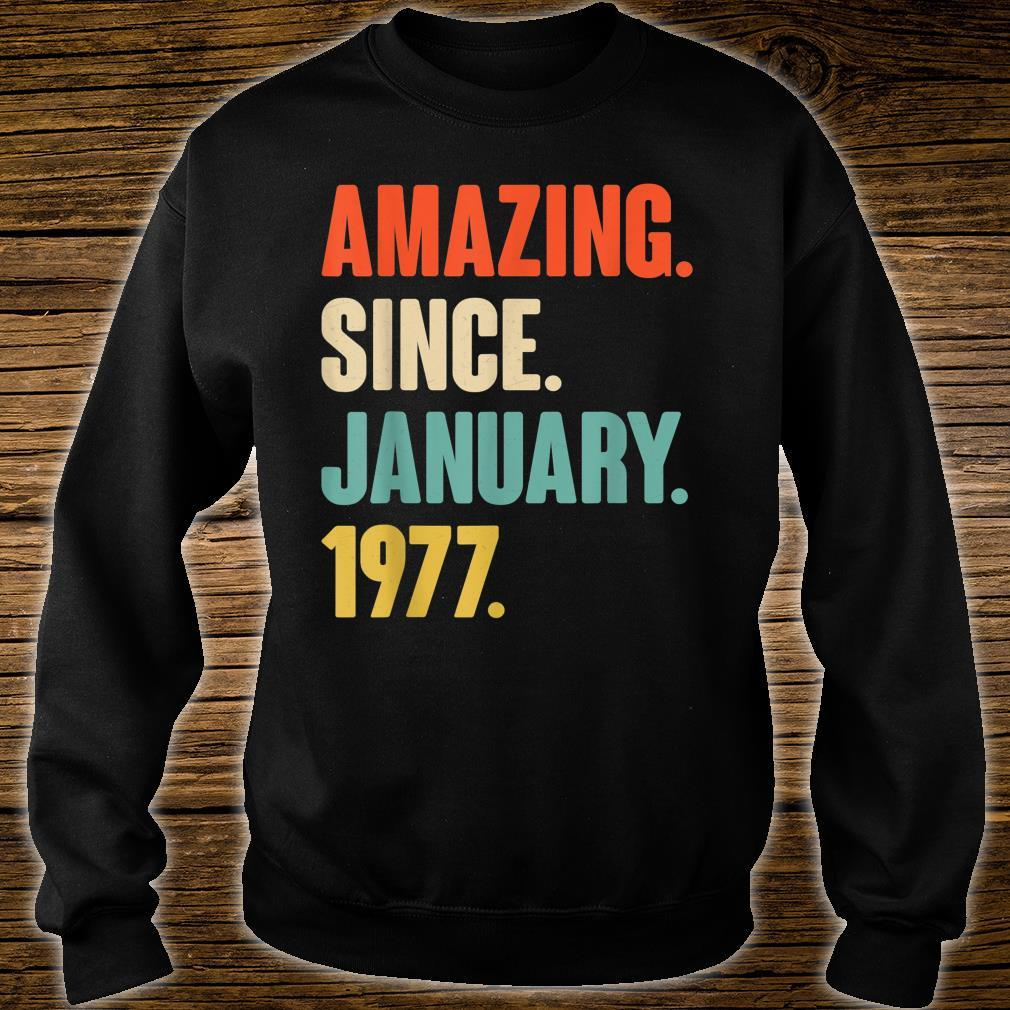 Gift for 44 Year Old Amazing Since January 1977 Birthday Shirt sweater