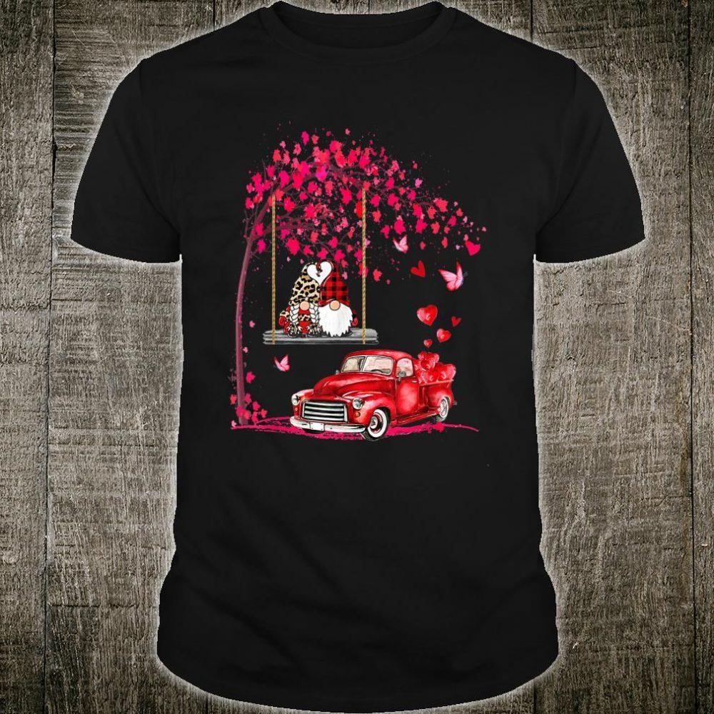 Gnomes red truck tree Valentine's day Shirt