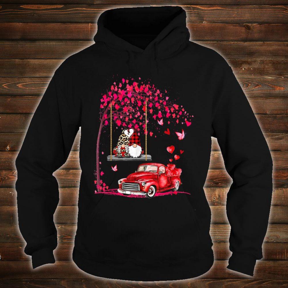 Gnomes red truck tree Valentine's day Shirt hoodie