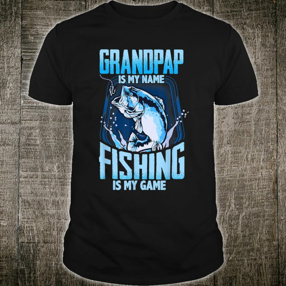 Grandpap Is My Name Fishing Is My Game Christmas Shirt