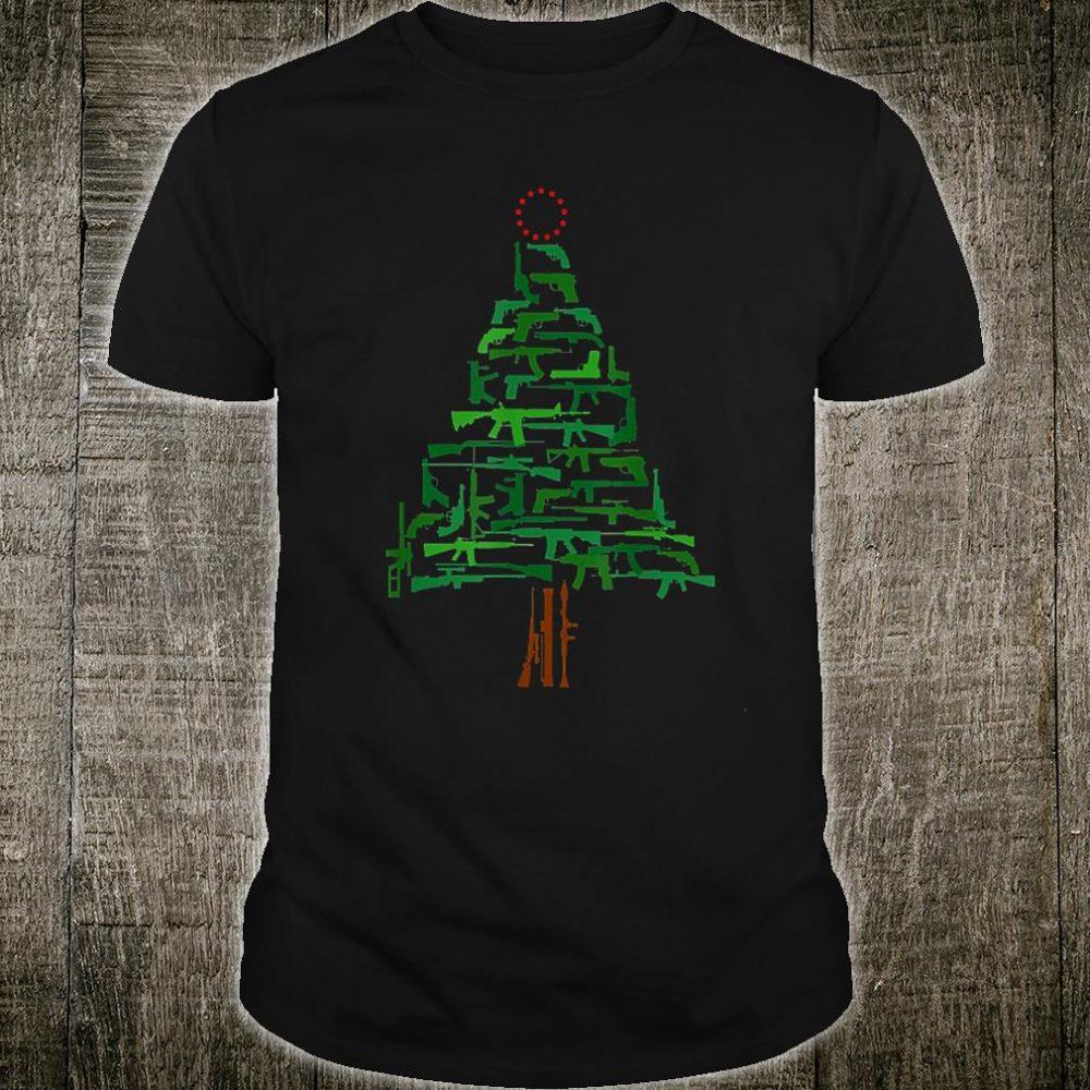 Gun Tree 13 Star Betsy Ross Christmas Shirt