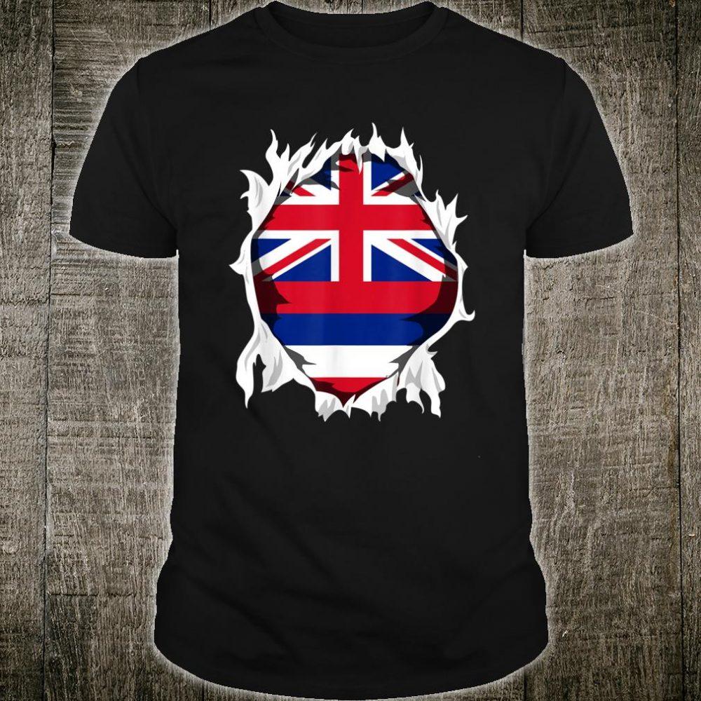 HI Native Home State Flag Shirt