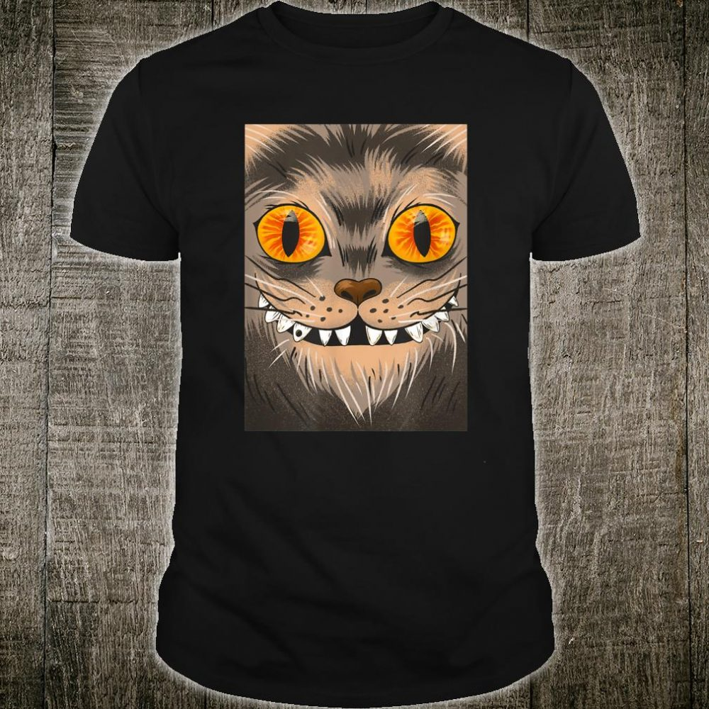 Happy Halloween Scary Spooky Horror Cat Cats Trick or Treat Shirt