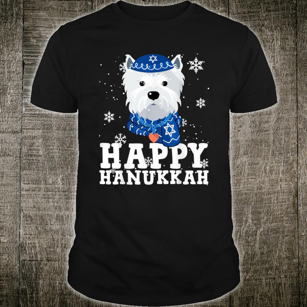 Happy Hanukkah West Highland White Terrier Dog Ugly Sweater Shirt
