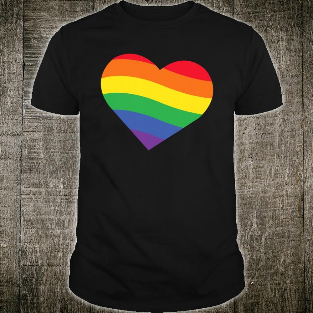 Heart Rainbow Valentine Love Pride Equality Shirt