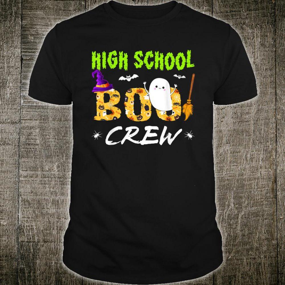 High School Boo Crew Teacher Halloween Costume Shirt