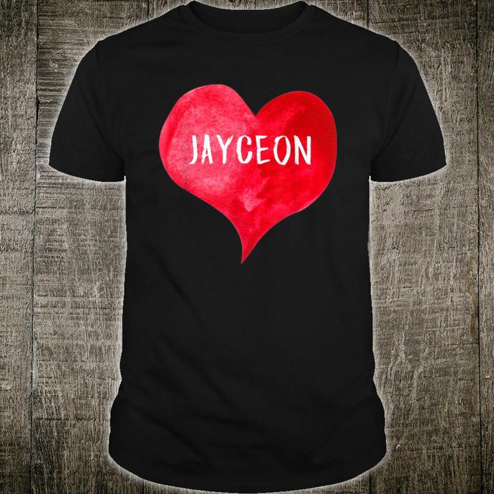 I Love JAYCEON Love Heart Shirt