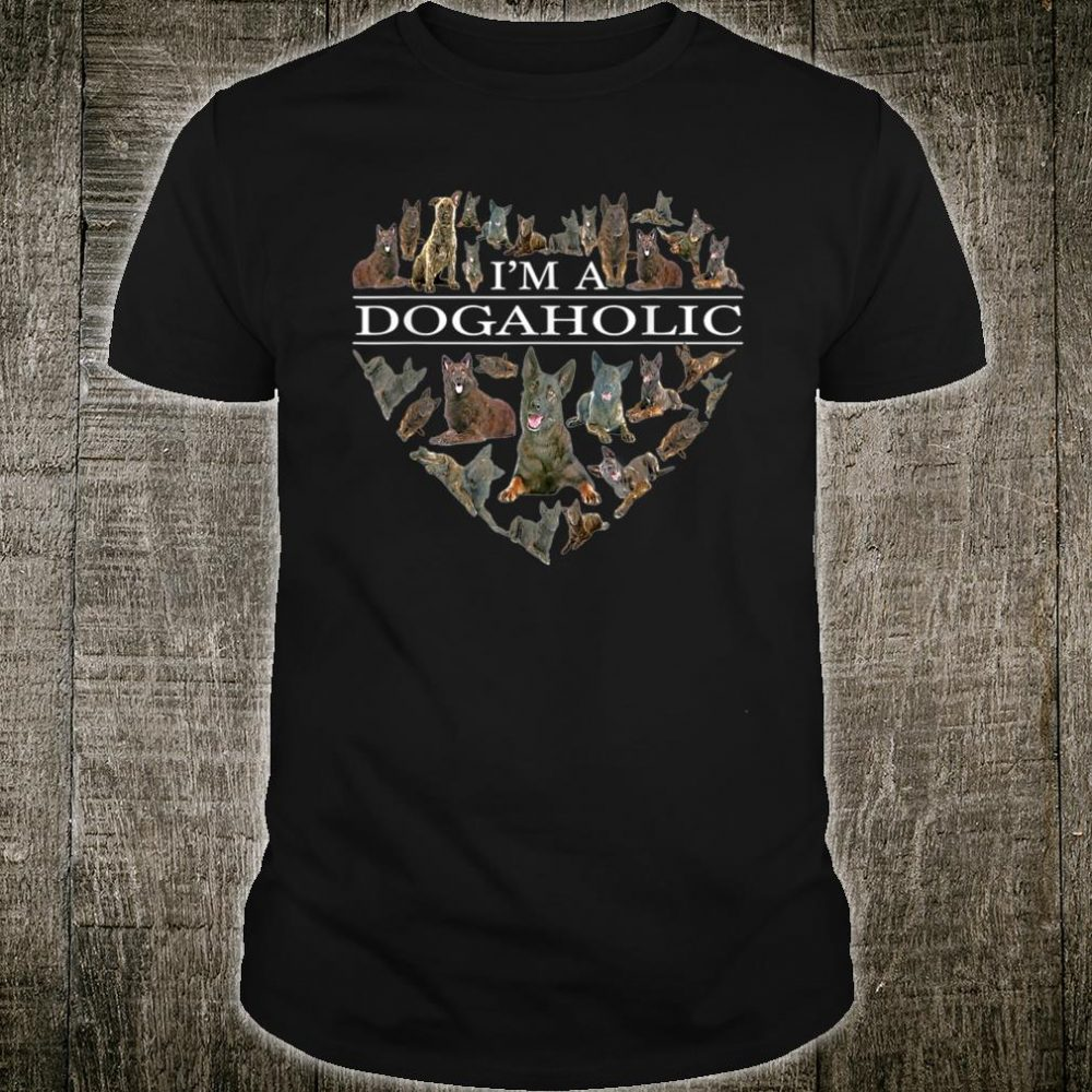 I'm A Dogaholic Heart Dutch Shepherd Lover Shirt
