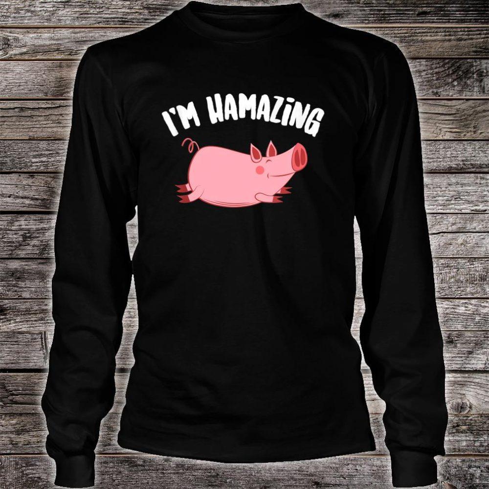 I'm Hamazing Pig Ham Cool Bacon Cuisine Lovers Shirt long sleeved