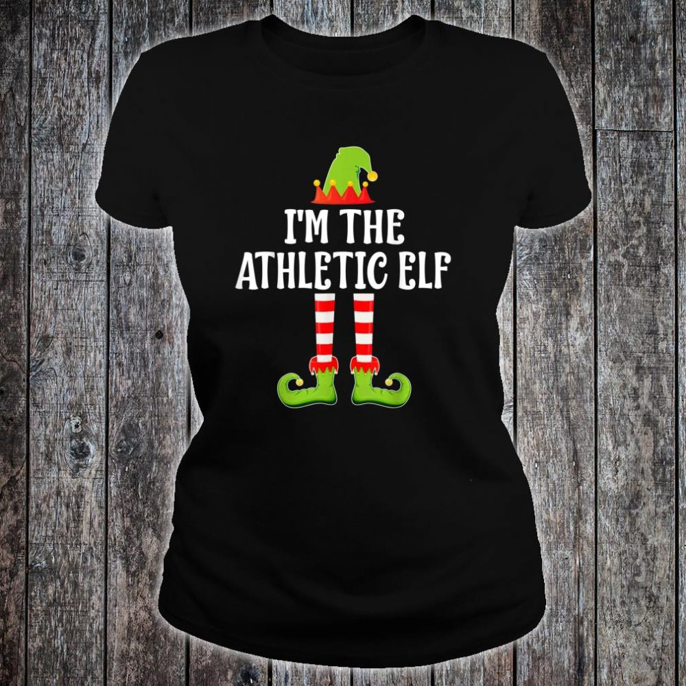 I'm The ATHLETIC Elf Shirt ladies tee