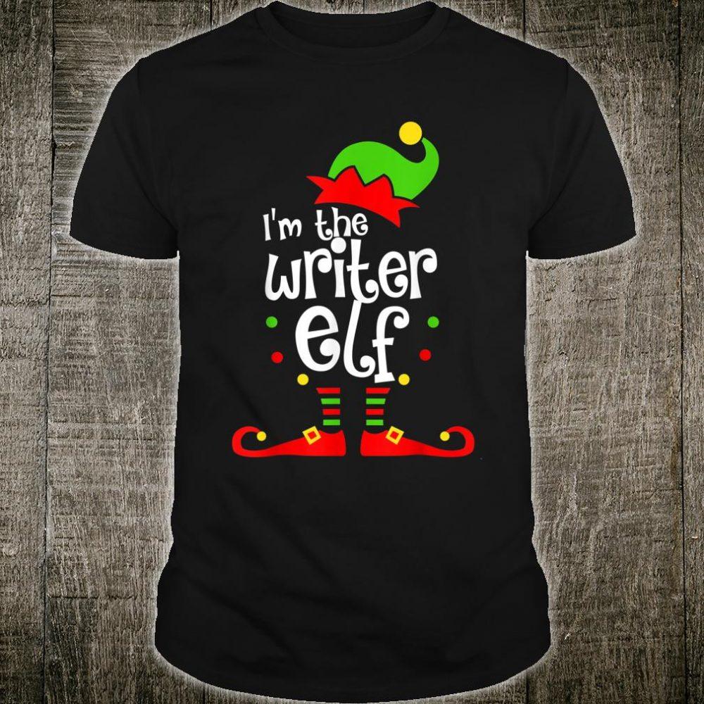 I'm The Writer Elf Xmas Family Friend Christmas Shirt