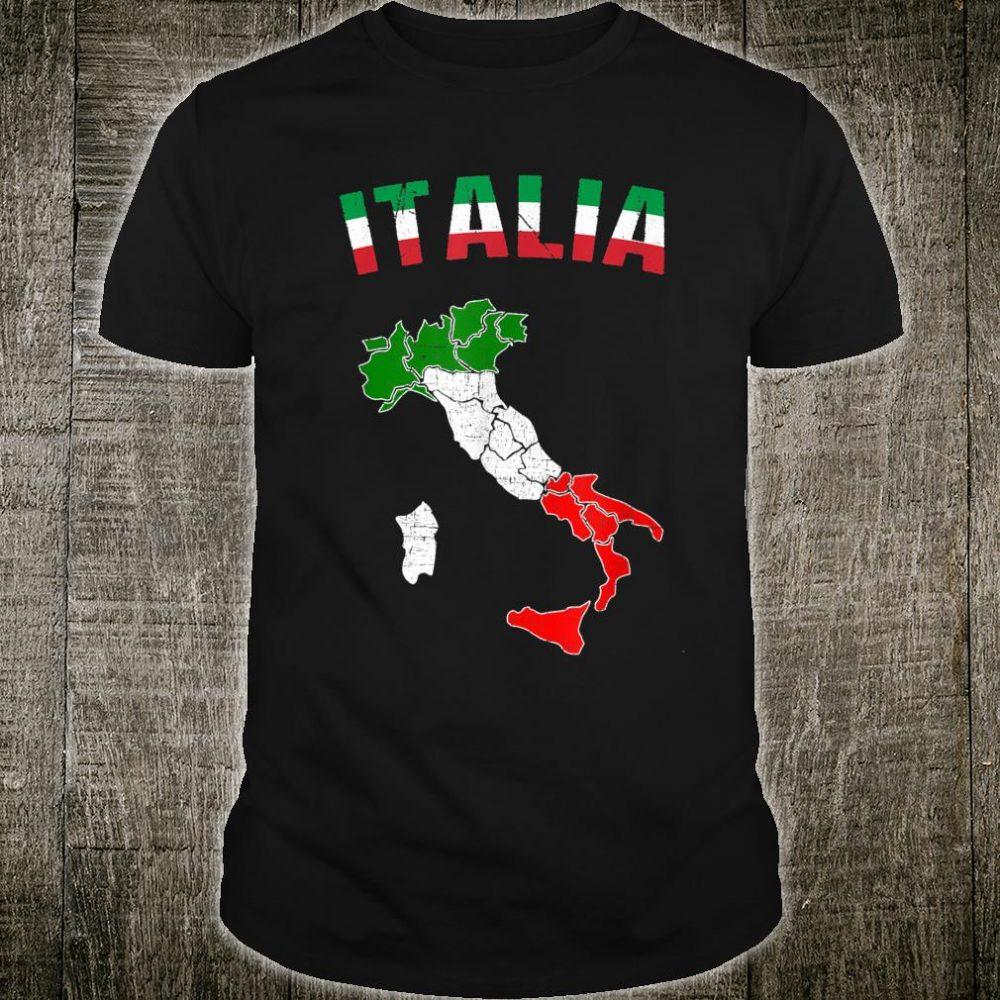 Italy Flag Vintage Shirt