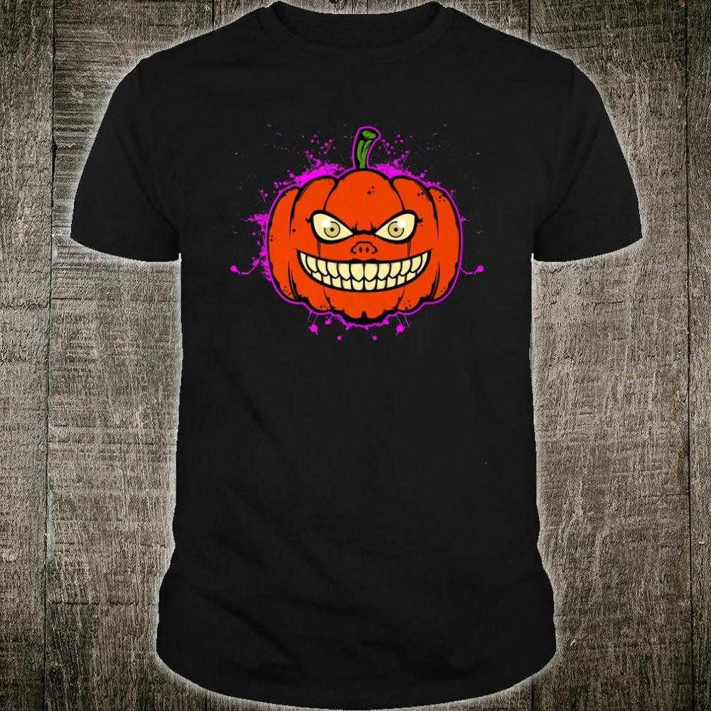 Jack O Lantern Mask Pumpkin Faces Halloween Costume Shirt
