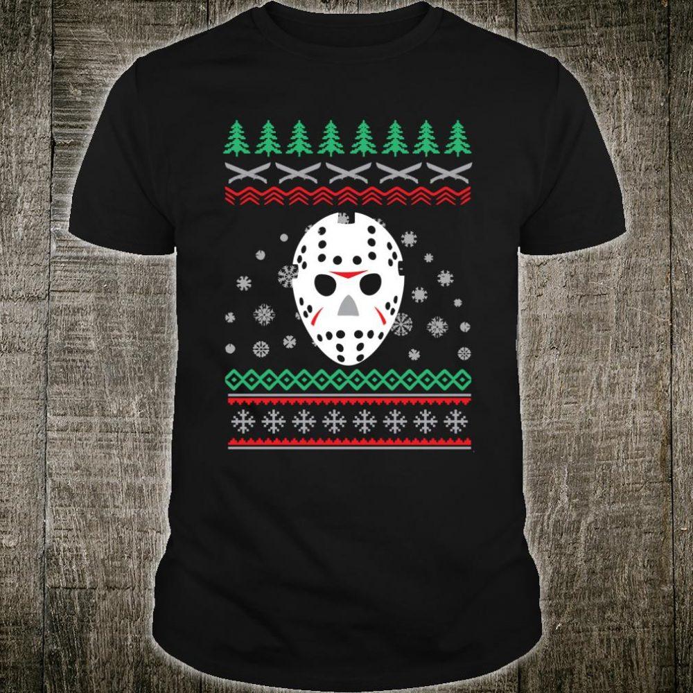 Jason Hockey Mask Ugly Christmas Holiday Festive Shirt